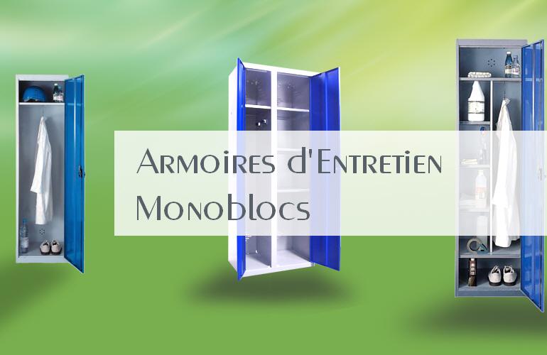 Armoires entretien monoblocs