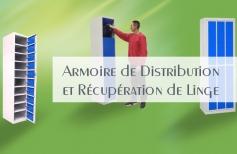 Armoire de distribution et récupération de linge